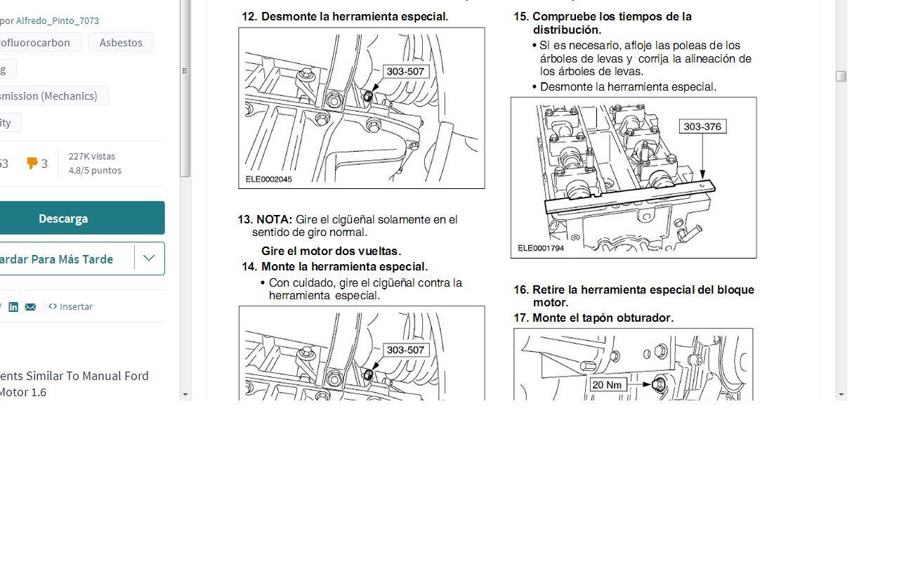 Cambio De Empaque De Cabeza En Ford Fiesta