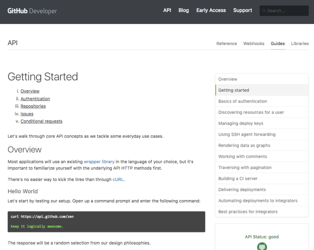 25 Great Examples of Developer Documentation - The Zapier