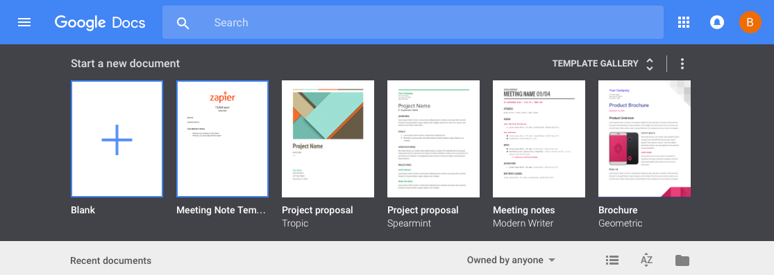 Create document from template in Google Drive