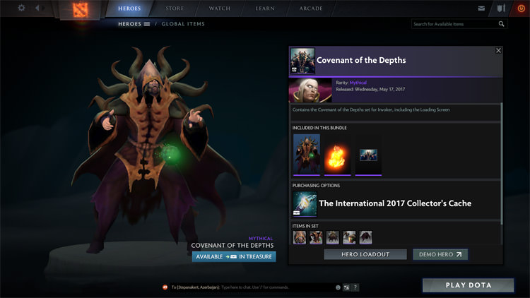 TI 7 Dota 2 Collectors Cache