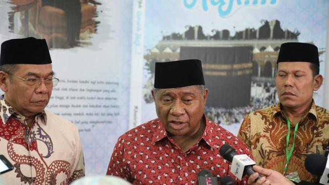 Ketua Komisi VIII Ali Taher, usai menghadiri pembukaan Musyawarah Nasional ke-I Forum Komunikasi Alumni Petugas Haji Indonesia (FKAPHI) di Asrama Haji Pondok Gede Jakarta, Minggu (21/4/2019). Dok Kemenag