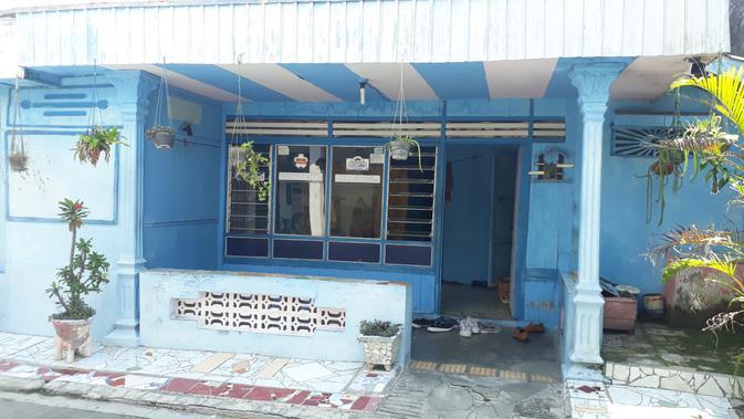 Kontrakan terduga teroris yang ditangkap Densus 88 Antiteror di Grobogan, Jawa Tengah. Selasa (14/5/2019). (LIputan6.com/ Felek Wahyu)