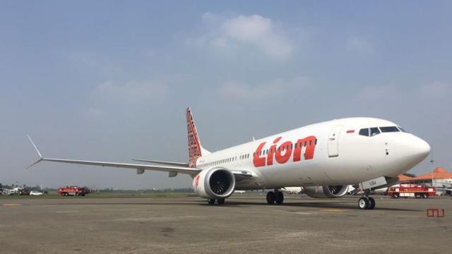 Boeing 737 MAX-8 pertama di Indonesia yang dioperasikan oleh Lion Air.