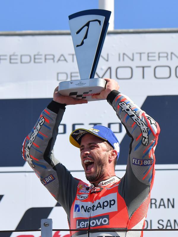 Pembalap Ducati, Andrea Dovizioso. (AFP FOTO / Tiziana Fabi)