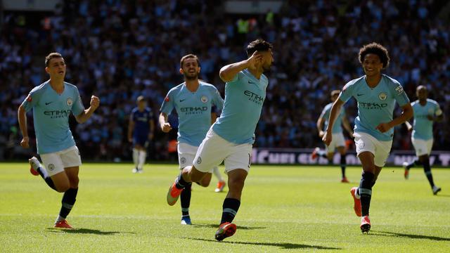 2 Gol Aguero Bawa Manchester City Tundukkan Chelsea di Community Shield
