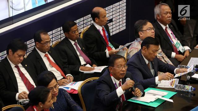 Paparkan RAPBN 2019, Menteri Kabinet Kerja Kompak Duduk Bersama