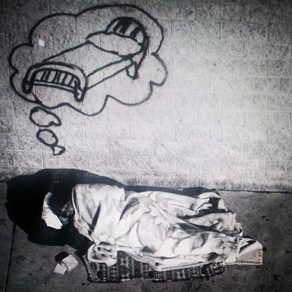 Angan Para Tunawisma Yang Tergambar Dalam Graffiti Menyentuh