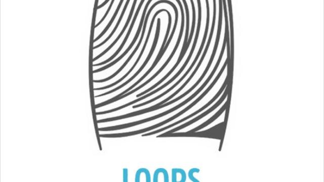 Pola sidik jari Loops (brightside)