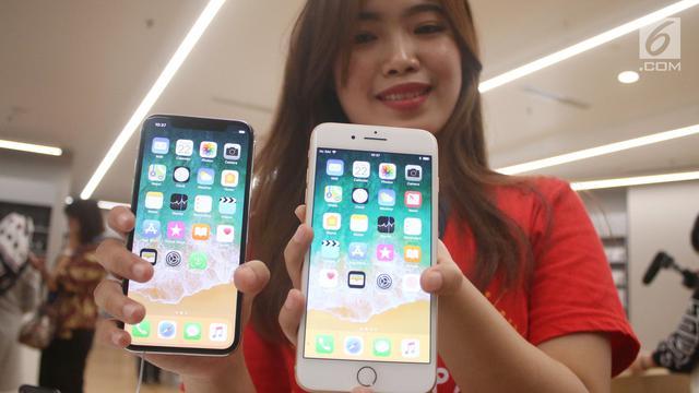 PHOTO: Rela Antre Demi Dapatkan iPhone x dan iPhone 8