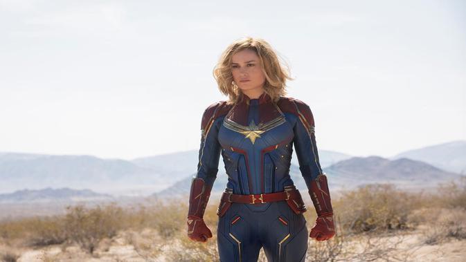Nah, kalau yang ini saat Brie Larson sedang berperan menjadi Captain Marvel. Keren, bukan? (Liputan6.com/IG/captainmarvelofficial)