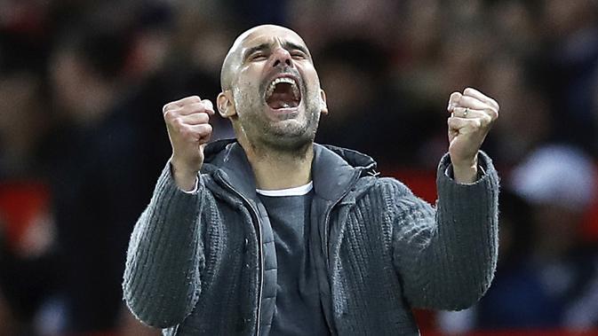 Pep Guardiola yakin antar Manchester City jadi juara Piala FA. (AP/Martin Rickett)