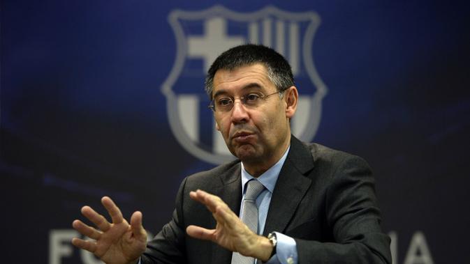 Presiden Barcelona Josep Maria Bartomeu (LLUIS GENE / AFP)