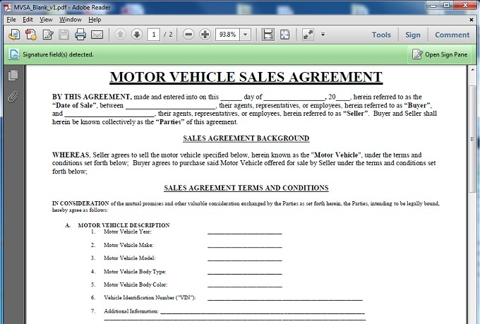 Doc685955 Blank Sales Contract Doc685955 Blank Sales Contract – Private Car Sale Contract Template