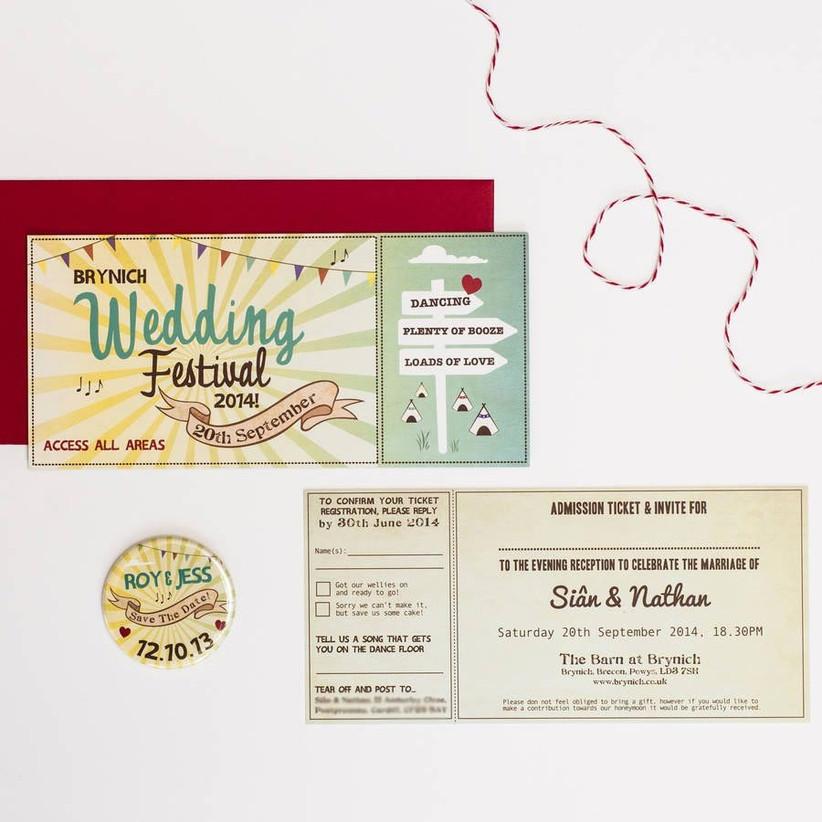 awesome alternative wedding invitation