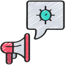 Coronavirus, megaphone, news, speech, spread, virus icon - Free download