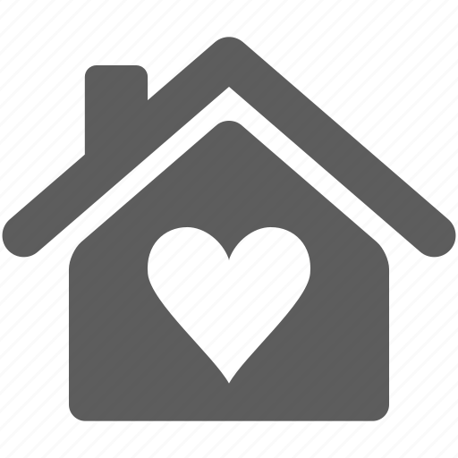 Download Building, heart, home, house, love icon