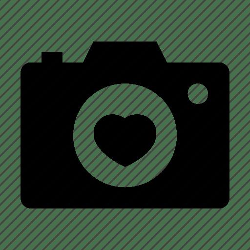 Download Camera, flash camera, heart sign, love moments, memories icon