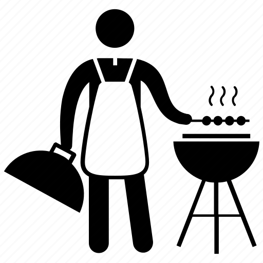 Barbeque Bbq Grill Charcoal Grill Chef Outdoor Party Icon