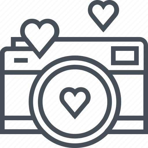 Download Camera, hearth, love, photo, valentines day icon
