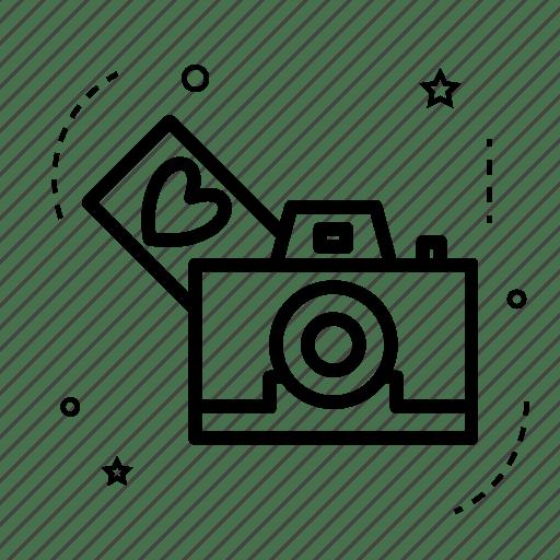 Download Camera, heart, love, photo, photography, romance, wedding icon