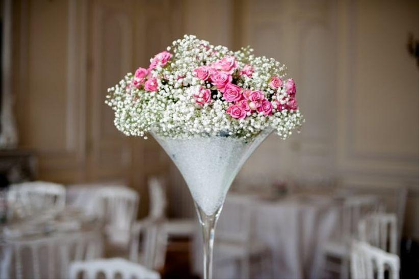 6 D 233 Corations De Centres De Table Avec Des Vases Martini