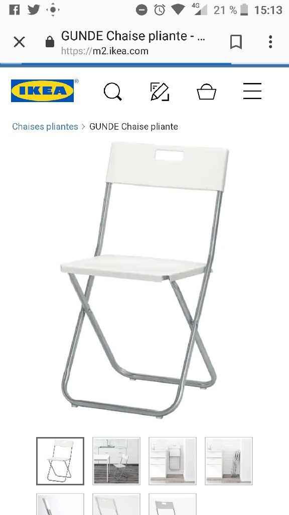 chaises pliantes ikea gunde