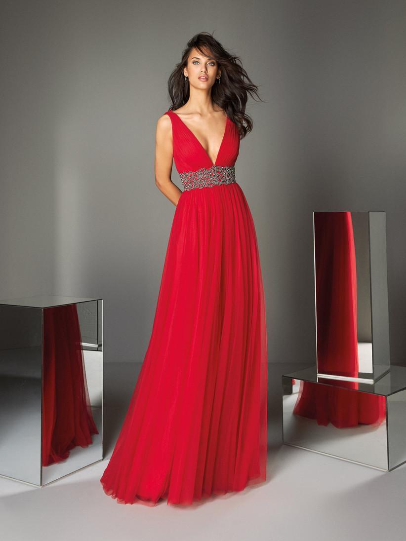 Pronovias - vestiti rossi da cerimonia