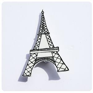 Eiffel Tower Brooch