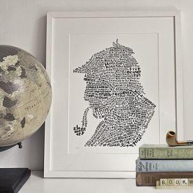 Sherlock Holmes word art print
