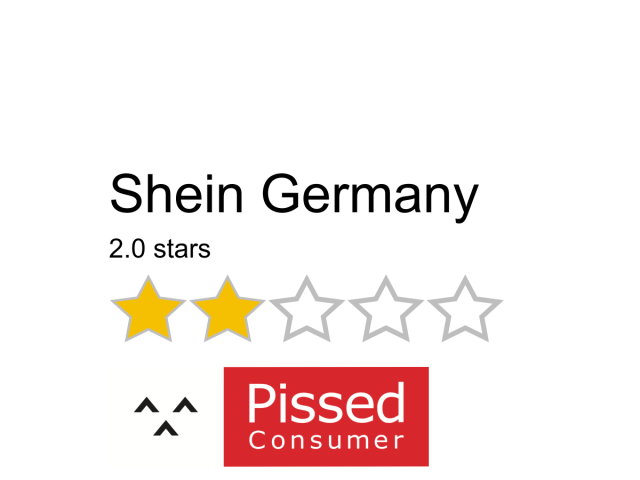 Shein Germany Reviews and Complaints  de.shein.com @ Pissed