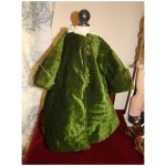 Green Antic Velvet Coat For French Bebe La Farandolls Ruby Lane