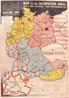 1946 Map of the Occupied Areas   Germany Map after WW2   Atlanta     1946 Map of the Occupied Areas   Germany Map after WW2   Atlanta Karte
