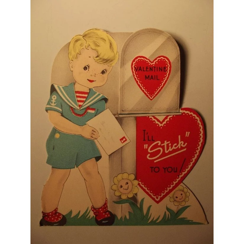 Vintage Valentine With Wrigley Gum From Here To