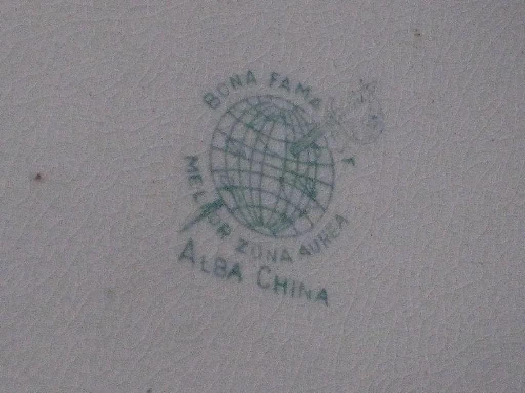 Antique Vintage Alba China Hand Painted Porcelain Pitcher