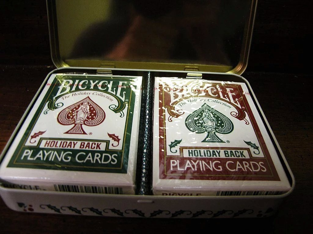 2 Sealed Decks Of Bicycle Holiday Playing Cards In