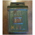 Vintage Cast Iron U S Mail Box Bank Circa 1900 Ellen Willens Antiques Ruby Lane