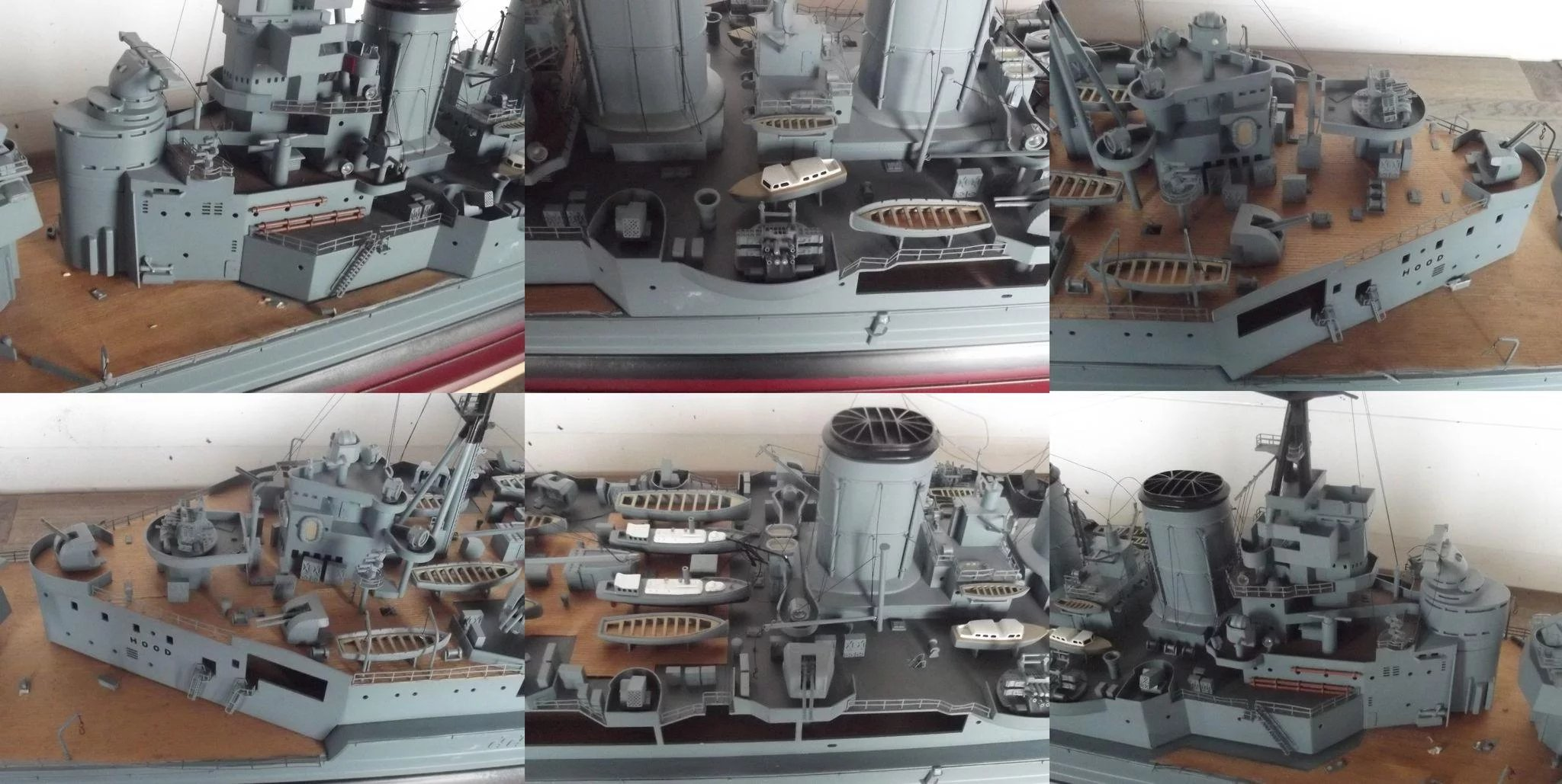 Hms Hood Kit Built Electric Powered Model The Antiques