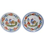 Quimper Faience Rooster Plates Hand Painted French Country Farmhouse Premier Antiques Ruby Lane