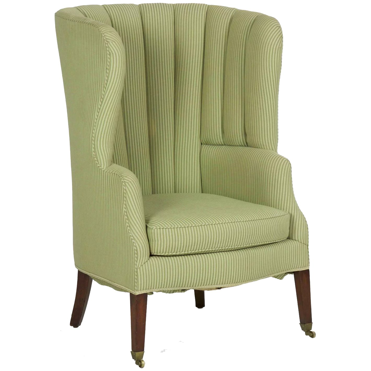 19th Century English Georgian Barrel Form Wingback Arm Chair Silla Ltd Ruby Lane