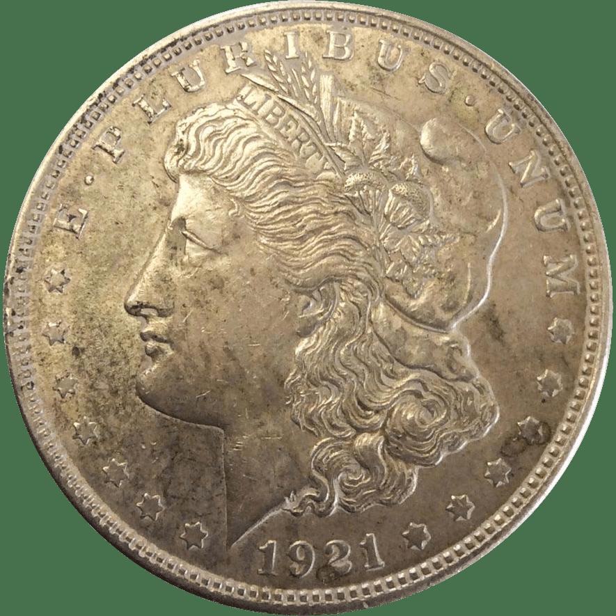 1921 Morgan Silver Dollar Philadelphia Mint VF 20 New England Estate Jewelers Ruby Lane
