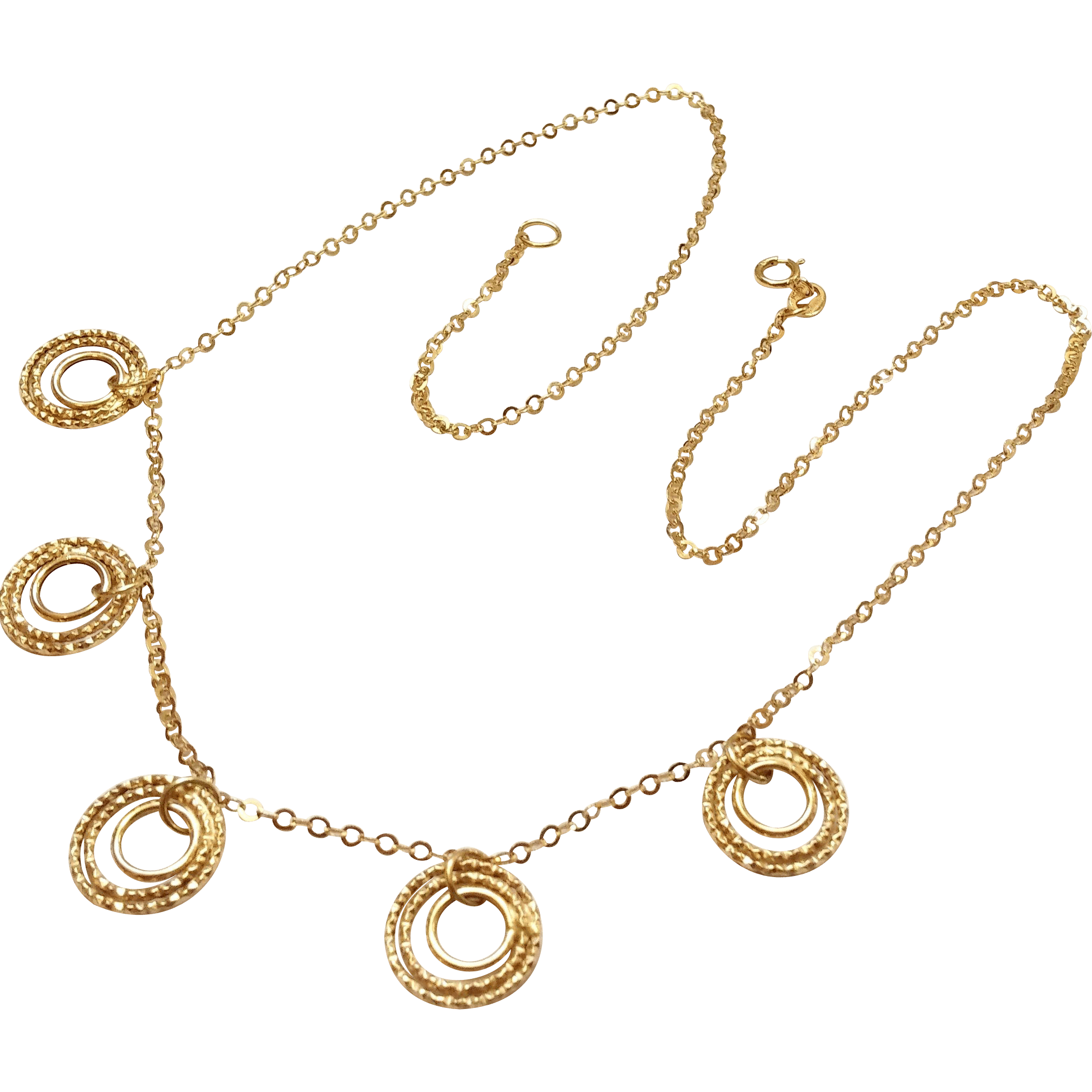 14k Gold Necklace Italy 18 38 Long SOLD On Ruby Lane