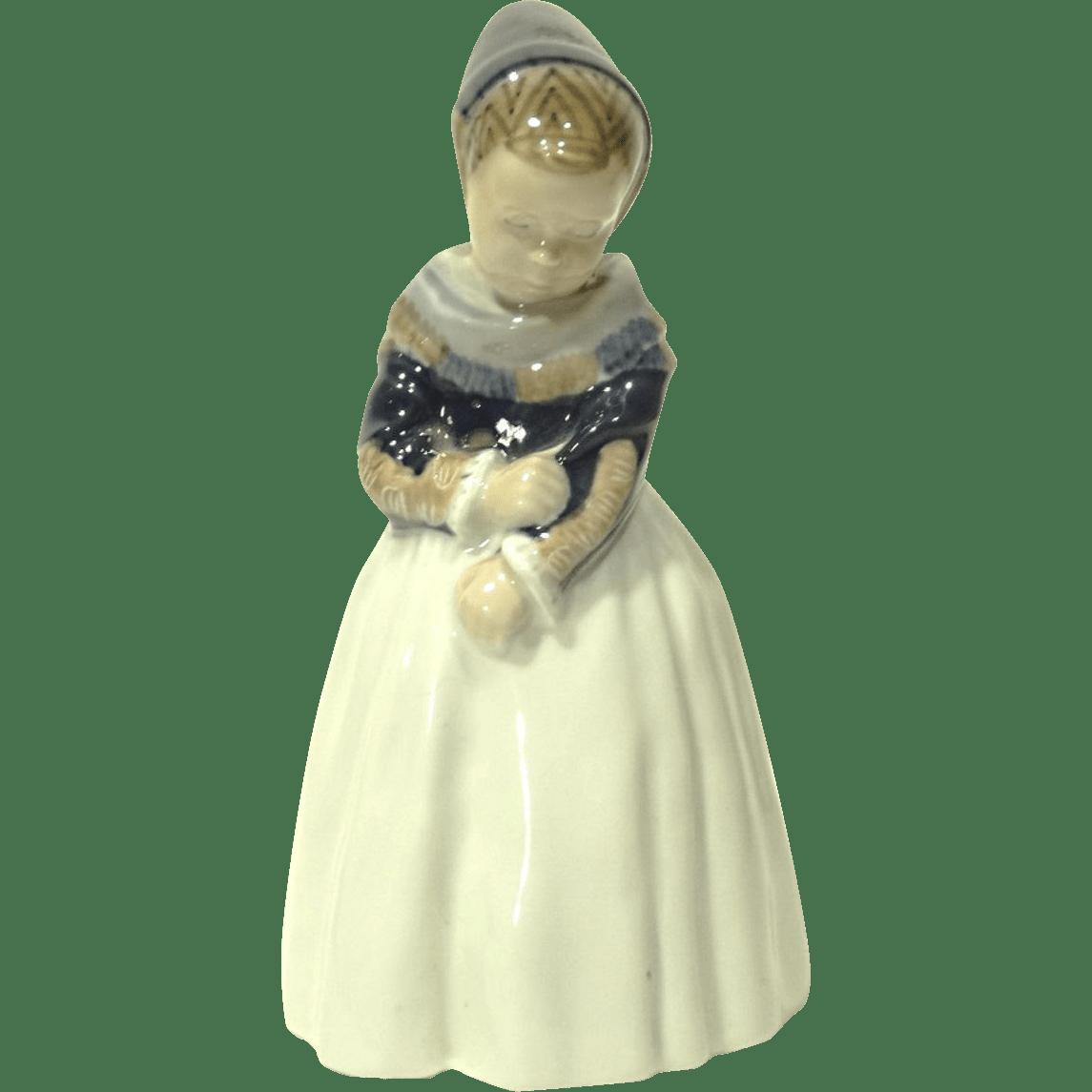 Vintage Royal Copenhagen Figurine Armager Girl 1251 From