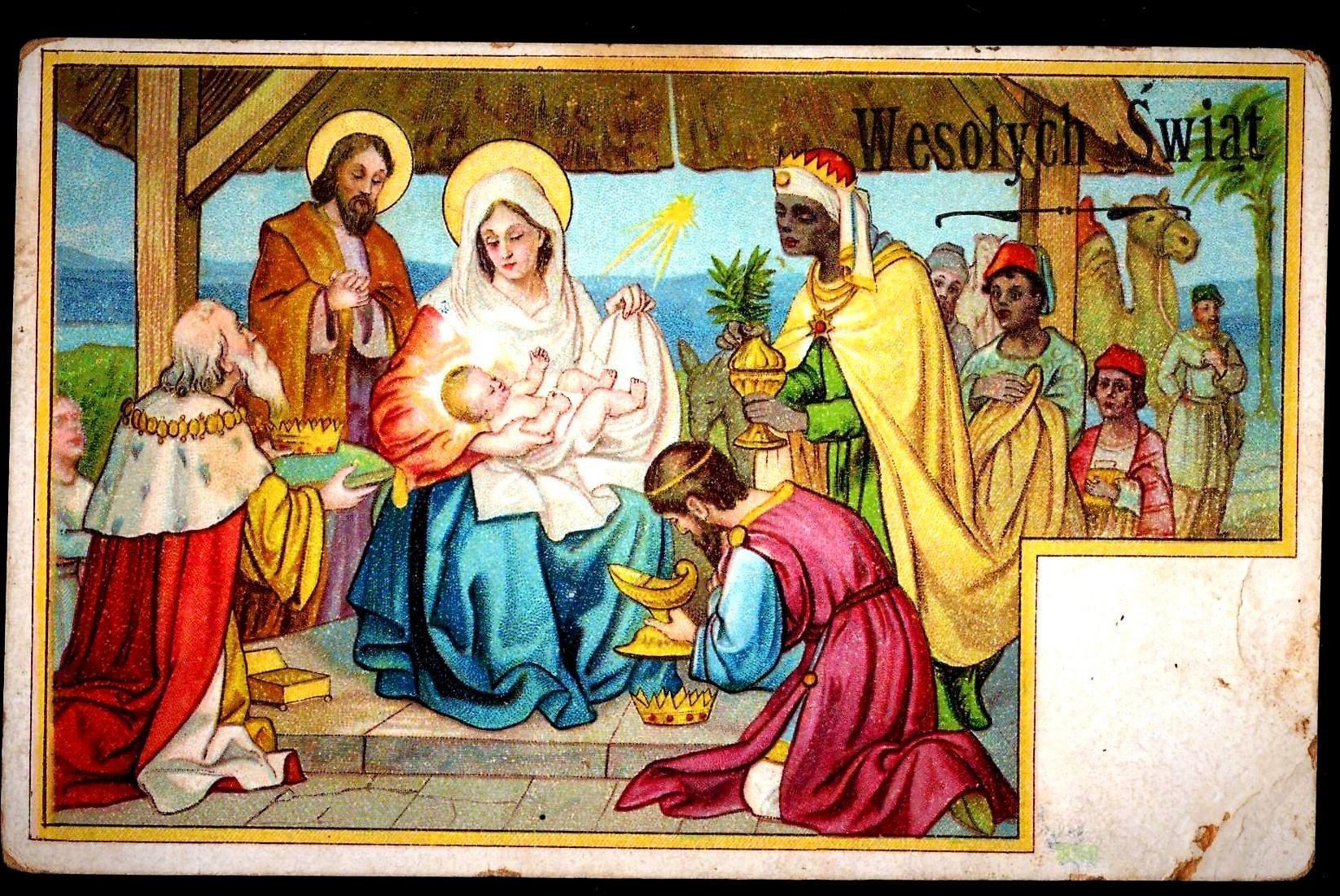 C1910 Religious Christmas Nativity Vintage Postcard Baby