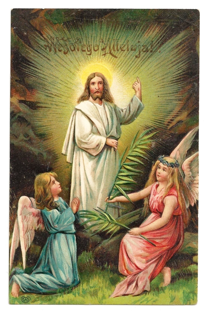 C1905 Religious Easter Polish Language Greeting Vintage