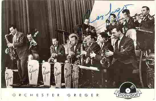 S Big Band Max Greger Old Photo Postcard With