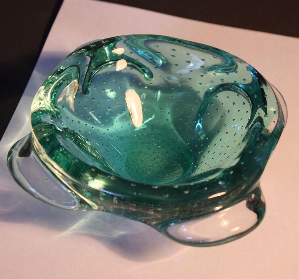 Mid Century Modern Murano Glass Bowl C 1950s From Decosurfn Rl On Ruby Lane