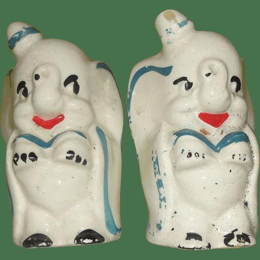Disney Dumbo The Circus Elephant Salt And Pepper Shakers