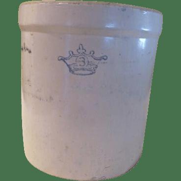 Blue Crown 3 Gallon Robinson Ransbottom Crock G From