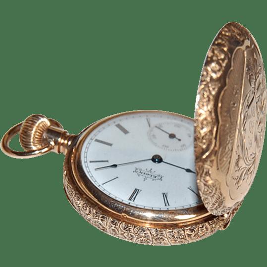 Antique ELGIN POCKET WATCH 14K Gold Hunting Case Circa
