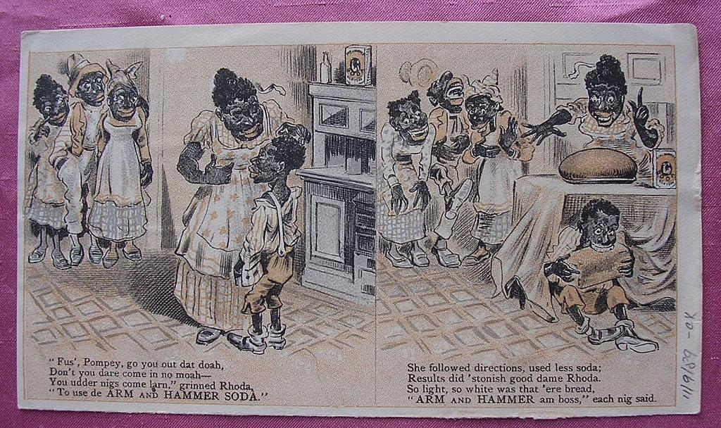 Rare Vintage Negro Racist ARM Amp HAMMER SODA Paper